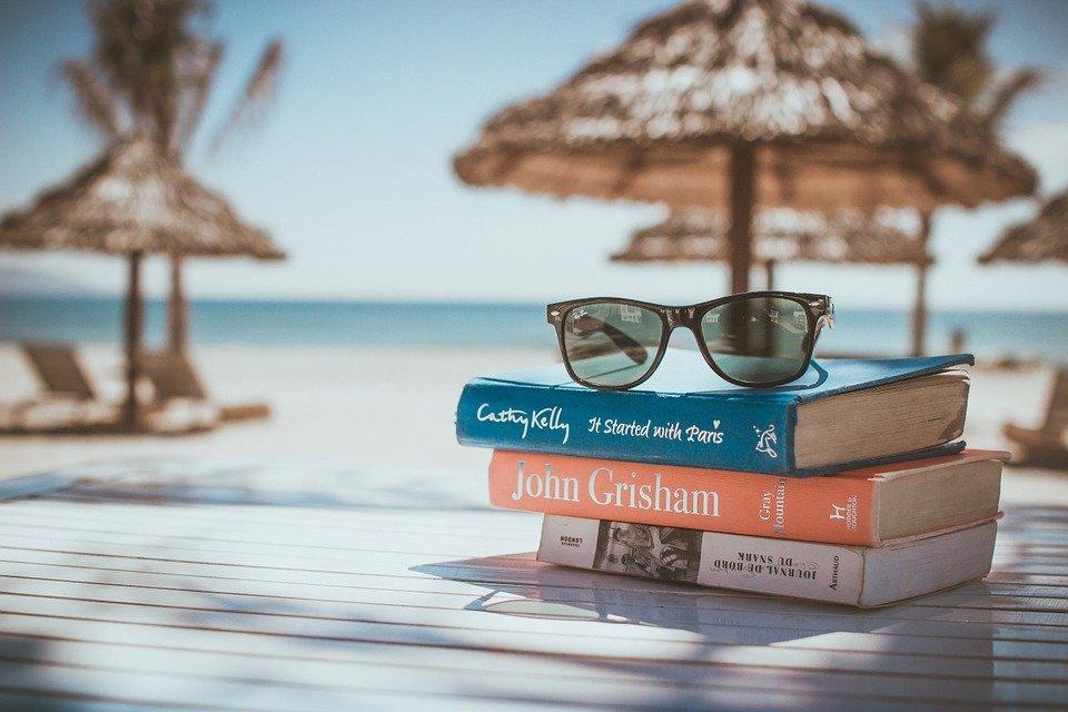 Books, Reading, Beach, Vacation, Sunglasses, Relax
